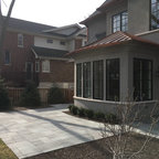 Neo-Prairie Style Parade Home - Transitional - Patio ...