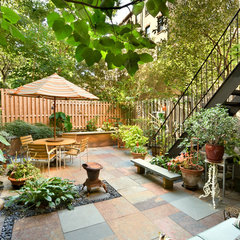 eclectic patio by Tobin + Parnes Design Enterprises