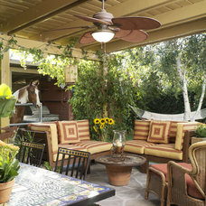 Eclectic Patio by Bonnie Sachs, ASID