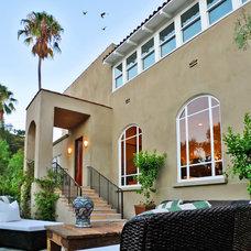 Mediterranean Patio by Jeffrey Smalley Architects