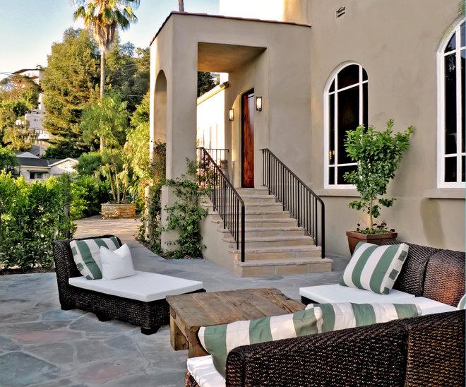 Mediterranean Porch by Jeffrey Smalley Architects