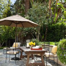 Mediterranean Patio by Jonathan Winslow Design