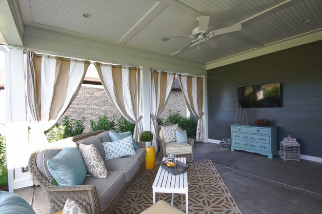 Transitional Patio by Set The Stage