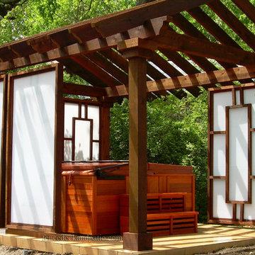 Hot Tub Privacy Panel - Polygal
