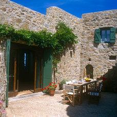 Mediterranean Patio by Deborah French Designs
