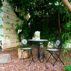 Eclectic Patio by Tammy Bronfen Interior Design and Color