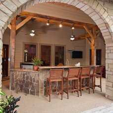 Traditional Patio by Texas Timber Frames