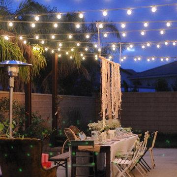 HOUZZ Holiday Contest: A Pretty Backyard DInner Party