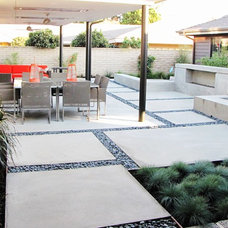 Midcentury Patio by Tara Bussema - Neat Organization and Design