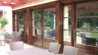 Huge exterior doors, Giant Ipe pergola