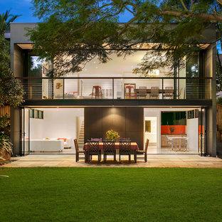 Contemporary backyard patio in Sydney.