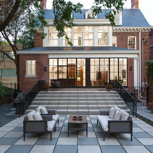 Inspiration for a timeless backyard patio remodel in Chicago with no cover