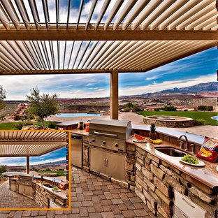 Louvered Patio Cover   Houzz on blue roof, motorized roof, patio roof, pergola sun shade roof, outdoor kitchen with metal roof, eclipse opening roof, solar shingles roof, icf roof,