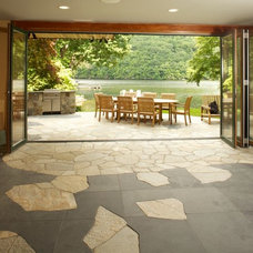 Eclectic Patio by Duo Dickinson, architect