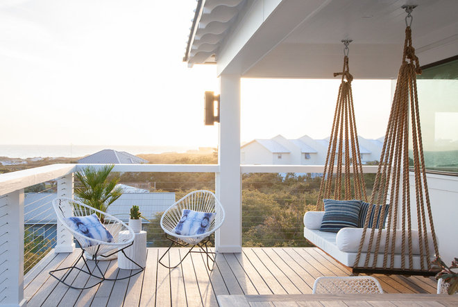 Beach Style Patio by Crowell + Co. Interiors