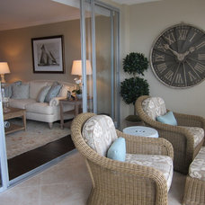 Beach Style Patio by Jodi Lurcott for Ethan Allen Boca Raton, Fl.