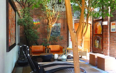 Houzz Tour: Eclectic Chilean Home Embraces Trees