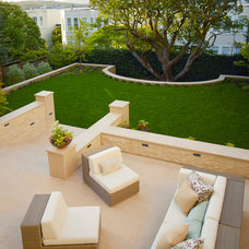 Transitional Patio by Boxleaf Design