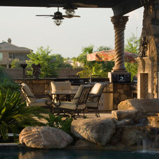 Traditional Patio by Red Rock Pools and Spas and Red Rock Contractors