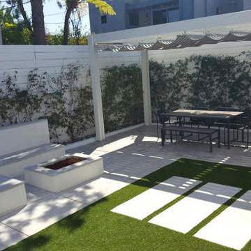 Intimate backyard Remodeling | Fire Pit and Patio Covers