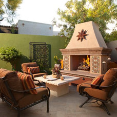 Southwestern Patio by Earth Art Landscape