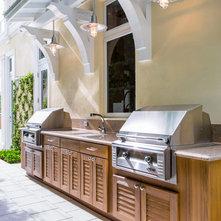 beach style patio by nmb custom homes and renovations llc beach style balcony helius lighting group