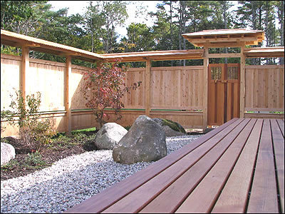 Japanese fence home design ideas pictures remodel and decor for Japanese decking garden