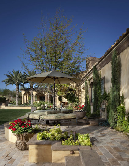 Mediterranean Patio by Exteriors By Chad Robert