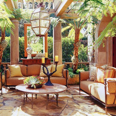 mediterranean patio by Wendi Young Design