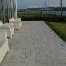 Modern Patio by Travertine Mart