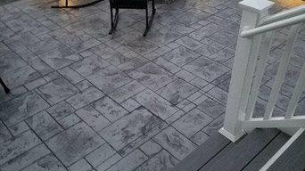 J Stamped Concrete Patio