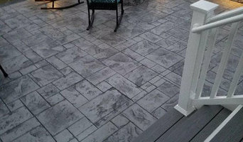 J Stamped Concrete Patio