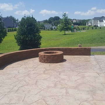 J-Stamped Concrete Patio Warrenton VA