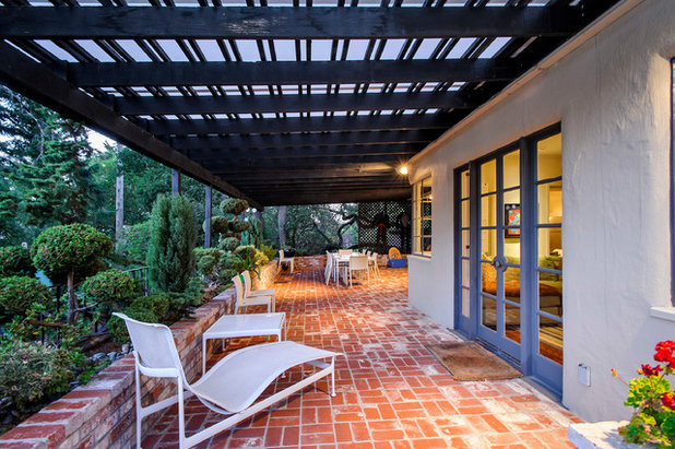 Traditional Patio by Dennis Mayer - Photographer