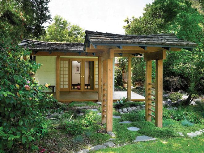 Asian Patio by HartmanBaldwin Design/Build
