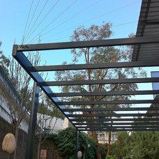 Contemporary Patio by sustainable garden design perth