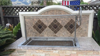 JD Fabrications Stainless Drop In Santa Maria Style Grill