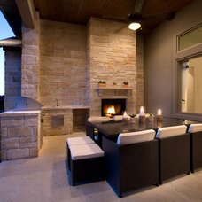 Contemporary Patio by Mary DeWalt Design Group