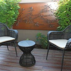 Asian Patio by Joanna Ford Interior Design