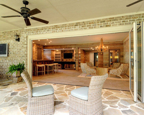 Walk out basement patio houzz for Walkout basement patio