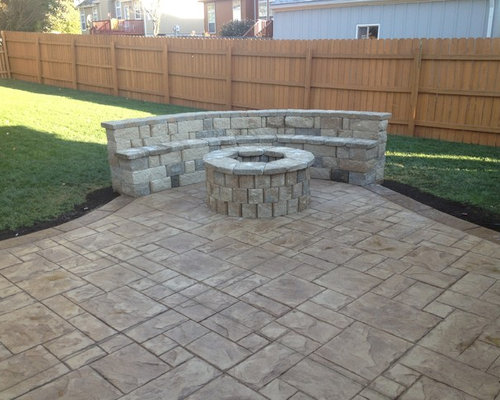 ashlar slate stamped patio | houzz - Stamped Patio Designs