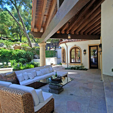 Mediterranean Patio by Joni Koenig Interiors