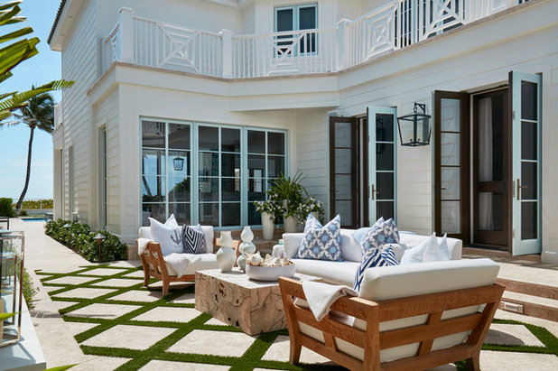Spectacular Beach Style Patio by Pineapples Palms Etc