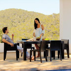 Jut Outdoor Dining Table and Chairs - Jut outdoor dining table and chairs.