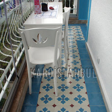 Traditional Patio by Karoistanbul Encaustic Cement Tile