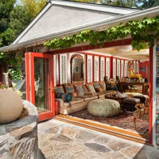 Eclectic Patio by Kelly Mack Home