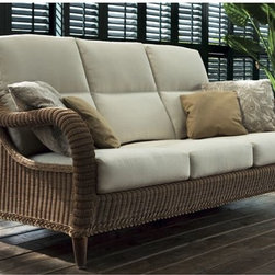 Outdoor Sofas and Loveseats - The Kenya outdoor sofa offers a classic style from the early days of wicker.