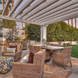 Transitional patio photo in Orange County