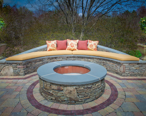 Curved Outdoor Bench Photos - Best Curved Outdoor Bench Design Ideas & Remodel Pictures Houzz