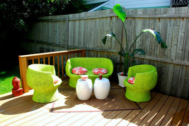 Eclectic Patio by Desire to Inspire